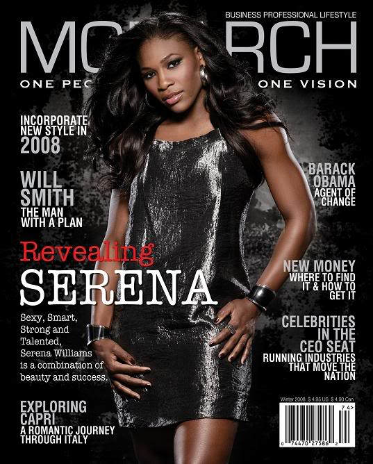 SERENA COVERS MONARCH MAGAZINE