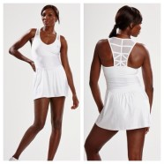 VENUS IN DESIGNER WIMBLEDON DRESS