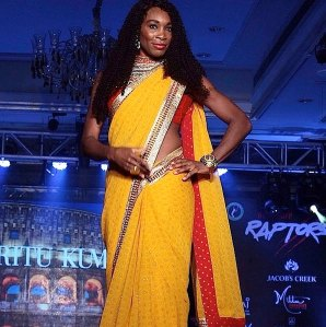 VID: Venus Williams Does Bollywood In Fashion Show