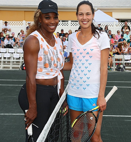 Serena Williams and Anna Ivanovic