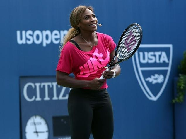 Serena Williams pictured before the 2014 US Open,  which she  has won five times, including the last two years.