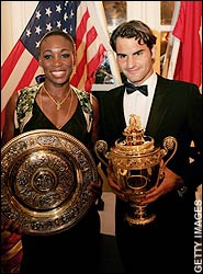 Wimbeldon 2006: Champions Venus Williams and Roger Federer