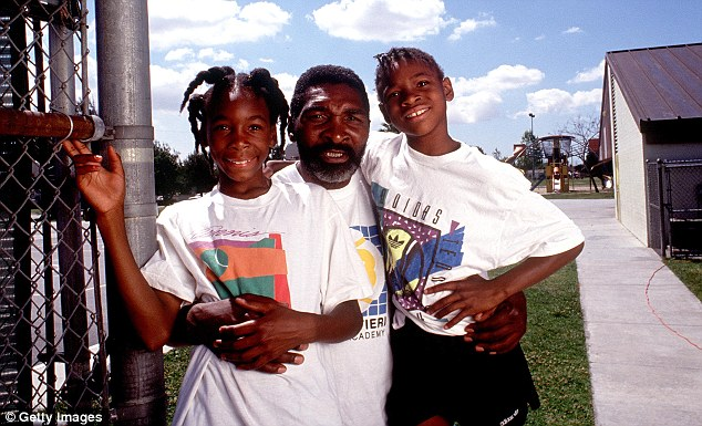 FATHER RICHARD WILLIAMS WITH VENUS AND SERENA