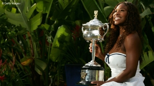 2007 Australian Open: Defying her No.81 ranking, Serena stormed to her eighth Grand Slam singles title.
