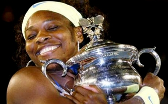2009 Australian Open: Serena beat Dinara Safina to capture her milestone 10th Grand Slam singles title.