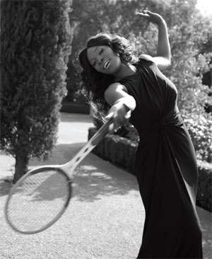 (SERENA POSE FROM HAMPTON MAGAZINE)