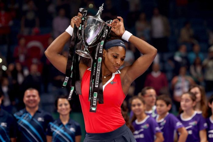 Cherry on top ... Williams's WTA Championship win capped off a stellar 2012 season: http://www.abc.net.au/news/2012-10-29/serena-caps-winning-season/4338356