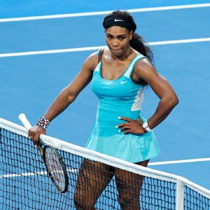 Serena Williams smashed her racket and argued with several people in the deciding doubles match of the Hopman Cup, which she and partner John Isner lost to Poland.  Will Russell/Getty Images