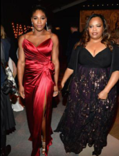 Serena Williams arrives at the Vanity Fair Pre-Oscar Party with lovely sister Isha.