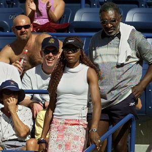 Venus Williams and her father, Richard, were heckled by fans during the 2001 Indian Wells final, in which Serena was also booed loudly. (Source: Reuters)