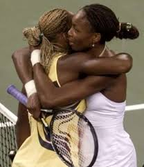 VENUS HUGS SERENA AFTER WINNING US OPEN