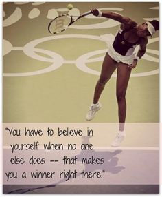 VENUS QUOTE BELIEVE IN YOURSELF
