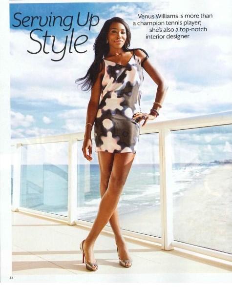 Venus Williams founder/owner of VStarr Interior Designs: Feature in Coastal Living Magazine.